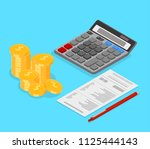 accounting  taxes and financial ... | Shutterstock .eps vector #1125444143