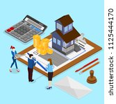 real estate valuation and... | Shutterstock .eps vector #1125444170