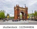 barcelona  spain   april 14 ... | Shutterstock . vector #1125444836