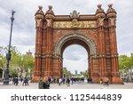 barcelona  spain   april 14 ... | Shutterstock . vector #1125444839