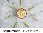 vitamin healthy breakfast oat... | Shutterstock . vector #1125444893