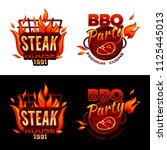 steak house vector illustration ... | Shutterstock .eps vector #1125445013