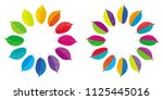 set of two vector color wheels... | Shutterstock .eps vector #1125445016