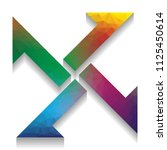 cross from arrows icon. vector. ... | Shutterstock .eps vector #1125450614