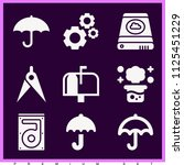 set of 9 tool filled icons such ... | Shutterstock . vector #1125451229