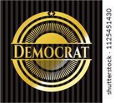 democrat gold badge | Shutterstock .eps vector #1125451430