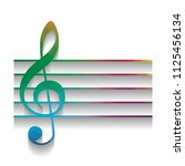 music violin clef sign. g clef. ... | Shutterstock .eps vector #1125456134