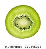 Slice Of Fresh Kiwi Fruit...