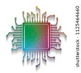 cpu microprocessor illustration.... | Shutterstock .eps vector #1125464660