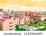 bird view over cityscape with... | Shutterstock . vector #1125466349