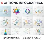 set of infographic design... | Shutterstock .eps vector #1125467210