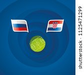russia vs croatia flags... | Shutterstock .eps vector #1125471299