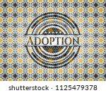 adoption arabesque badge.... | Shutterstock .eps vector #1125479378
