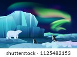 cartoon vector nature winter... | Shutterstock .eps vector #1125482153