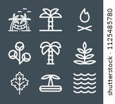 nature icon set   outline... | Shutterstock .eps vector #1125485780