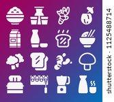 food icon set   filled... | Shutterstock .eps vector #1125488714