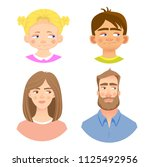 emotions of human face. set of... | Shutterstock .eps vector #1125492956