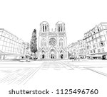 france. nice. basilica of notre ... | Shutterstock .eps vector #1125496760