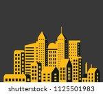 modern city skyscrapers set... | Shutterstock .eps vector #1125501983
