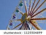ferris wheel on a fairground   Shutterstock . vector #1125504899