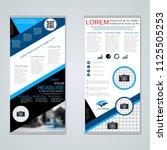 modern roll up abstract... | Shutterstock .eps vector #1125505253