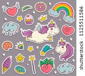 magic wand  unicorn  rainbow ... | Shutterstock .eps vector #1125511586