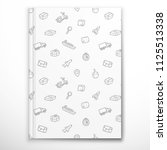 notebook cover template with... | Shutterstock .eps vector #1125513338