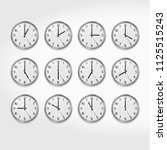 office wall clocks showing the... | Shutterstock .eps vector #1125515243