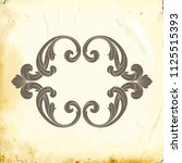 retro baroque decorations... | Shutterstock .eps vector #1125515393