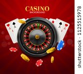 casino roulette with chips  red ... | Shutterstock .eps vector #1125515978
