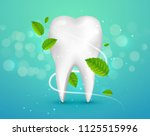 whitening tooth ads  with mint... | Shutterstock .eps vector #1125515996
