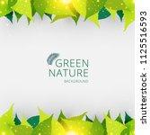 template header or footer green ... | Shutterstock .eps vector #1125516593