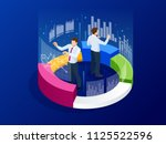 isometric business analytics ... | Shutterstock .eps vector #1125522596