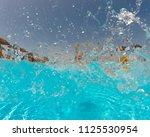 young woman enjoying in the... | Shutterstock . vector #1125530954