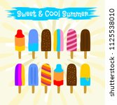 colorful icon popsicle ice... | Shutterstock .eps vector #1125538010