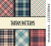 set of seamless tartan patterns | Shutterstock .eps vector #1125538064