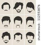 mustache  beard and hair style... | Shutterstock .eps vector #112553876