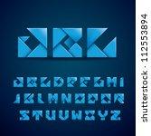 new origami alphabet | Shutterstock .eps vector #112553894