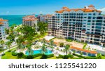 aerial view of fisher island.... | Shutterstock . vector #1125541220