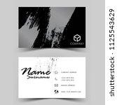 modern business card design.... | Shutterstock .eps vector #1125543629