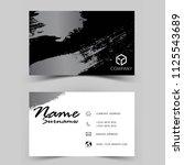 modern business card design.... | Shutterstock .eps vector #1125543689