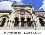 """spanish synagogue"" in prague ... | Shutterstock . vector #1125543704"