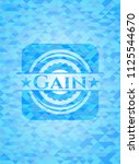 gain light blue emblem with...   Shutterstock .eps vector #1125544670
