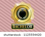 golden badge with laurel... | Shutterstock .eps vector #1125554420