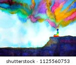 human and spirit powerful... | Shutterstock . vector #1125560753