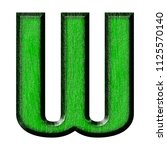Green Wood Letter W In A 3d...