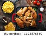 grilled chicken  mac and cheese ... | Shutterstock . vector #1125576560
