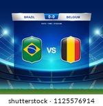 brazil vs belgium scoreboard...   Shutterstock .eps vector #1125576914