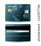 credit card design with globe | Shutterstock .eps vector #112557746