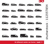 Cars Icons Set 1. 30 Different...